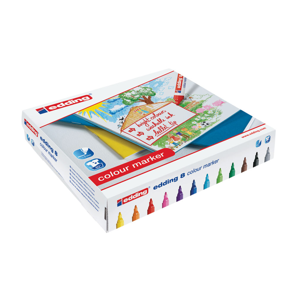 edding 8 Assorted Colour Markers, Pack of 144 - 300458000