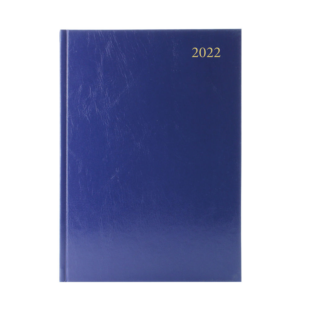 Blue A5 Desk Diary Week To View 2022 Desk Diary