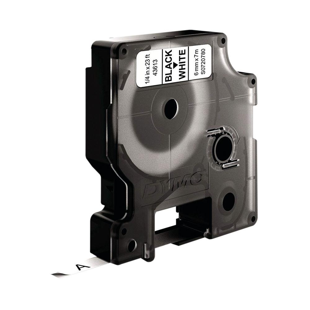 Dymo 43613 D1 LabelMaker Tape 6mm x 7m Black on White S0720780