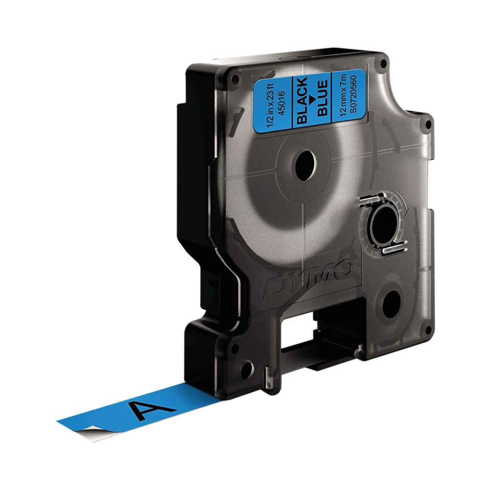 Dymo 45016 D1 LabelMaker Tape 12mm x 7m Black on Blue S0720560