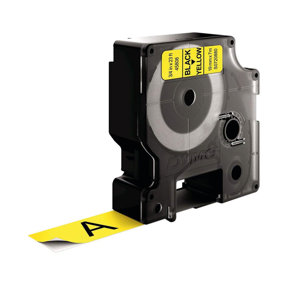Dymo D1 Standard Label Tape Black on Yellow - S0720880