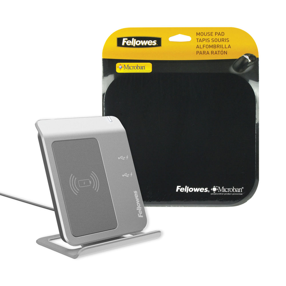 Fellowes Black Microban Mouse Mat - 5933903