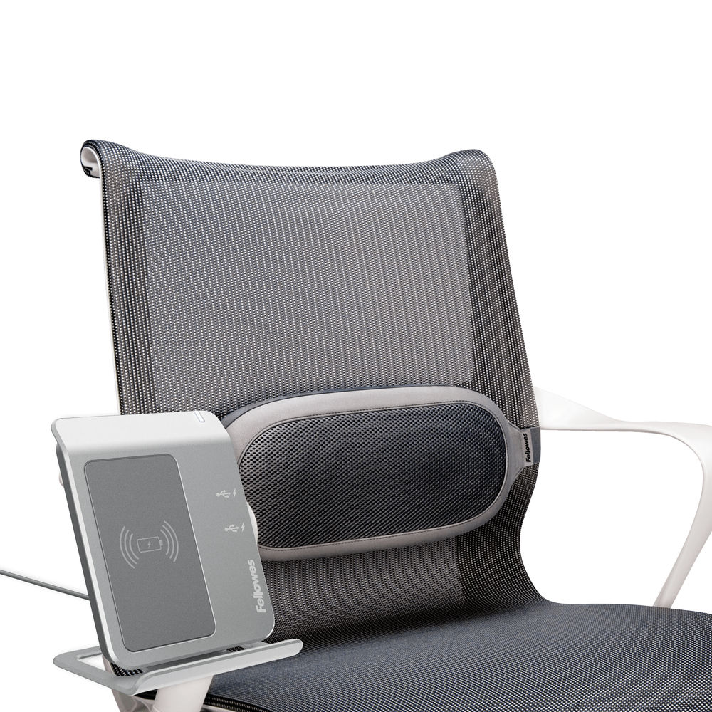 Fellowes I-Spire Black and Grey Lumbar Support Cushion - 9311602