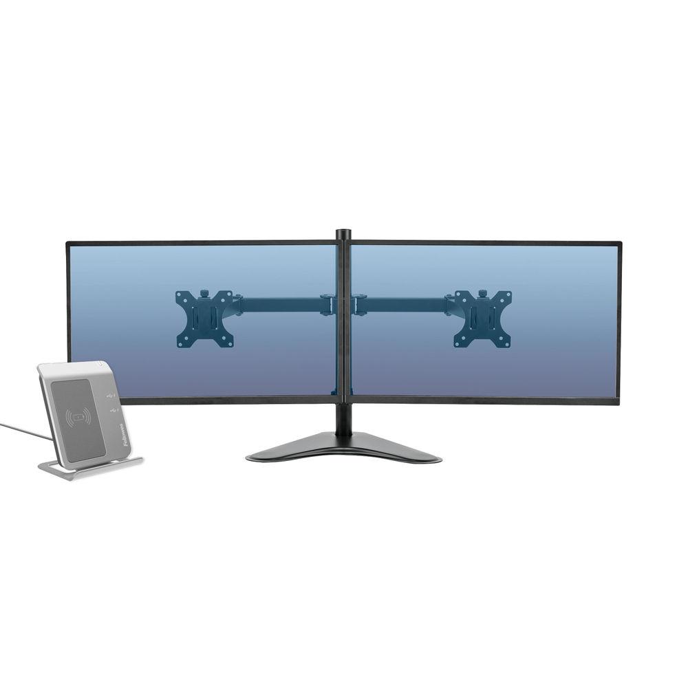 Fellowes Professional Series Free Standing Dual Horizontal Monitor Arm 8043701