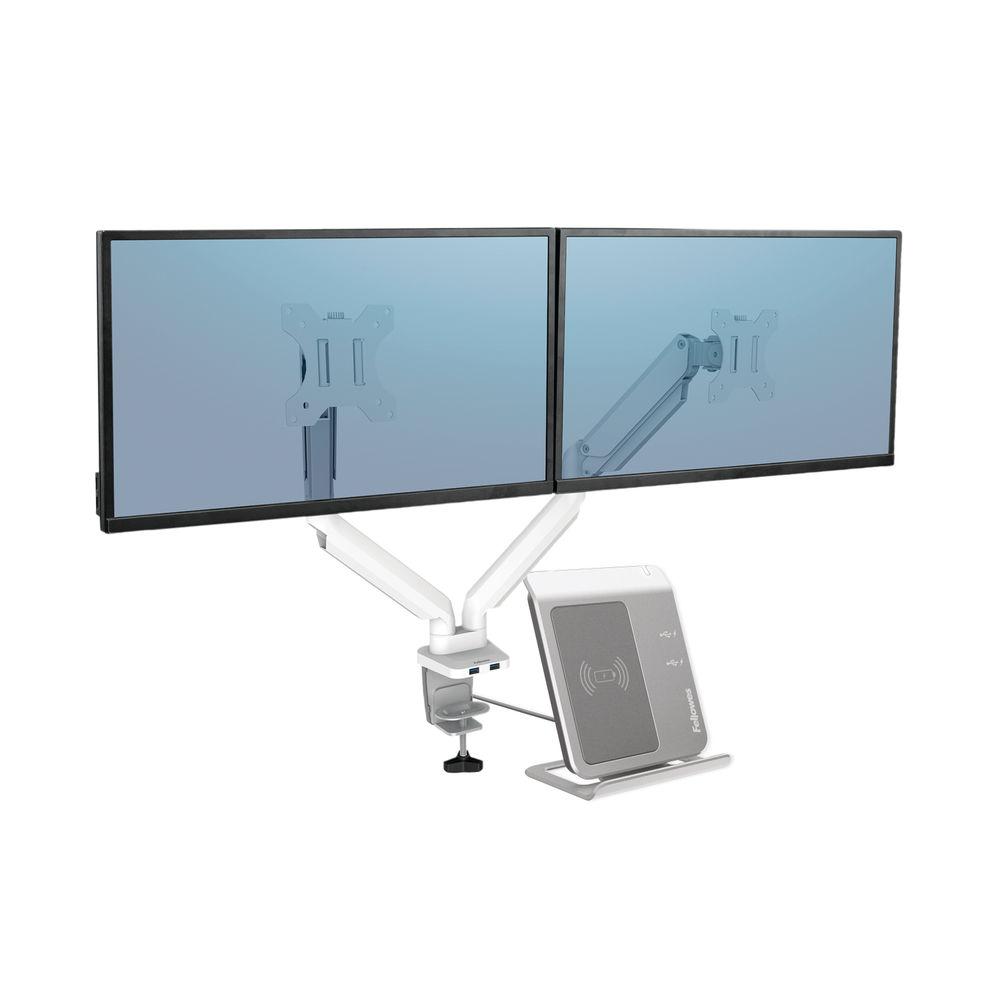 Fellowes Platinum Series Dual Monitor Arm White 8056301