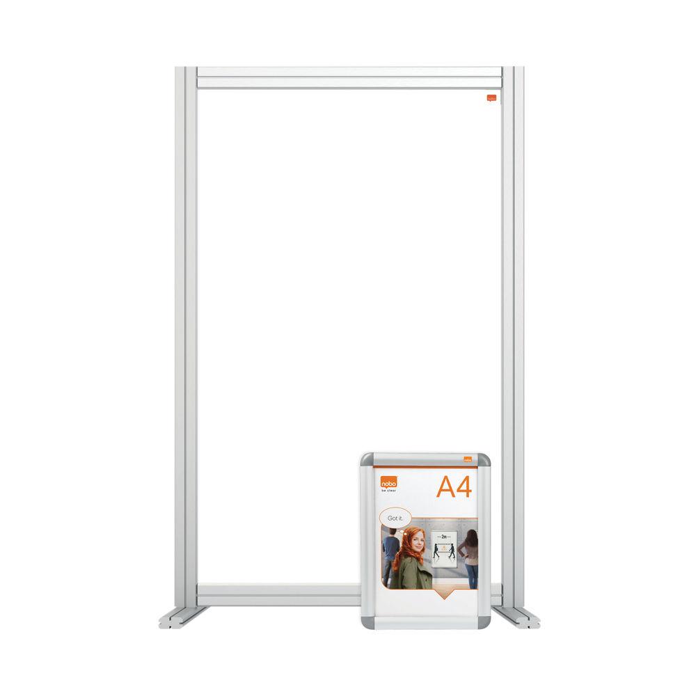 Nobo 600mm Clear Acrylic Modular Desk Divider