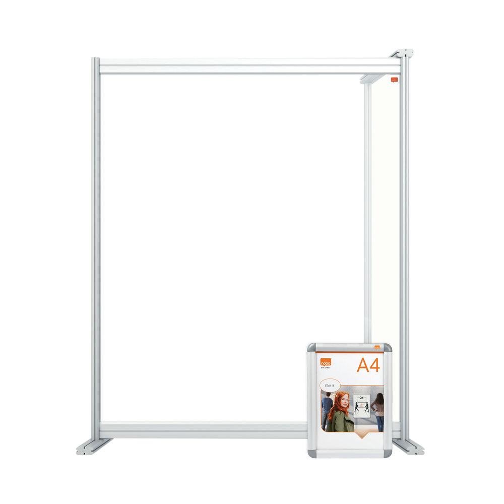 Nobo 800mm Clear Acrylic Modular Desk Divider Extension