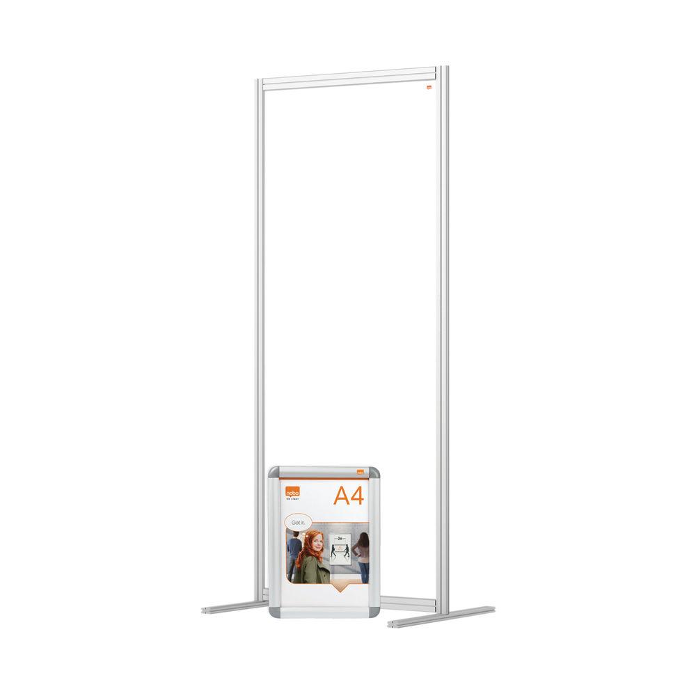 Nobo 800mm Clear Acrylic Modular Room Divider