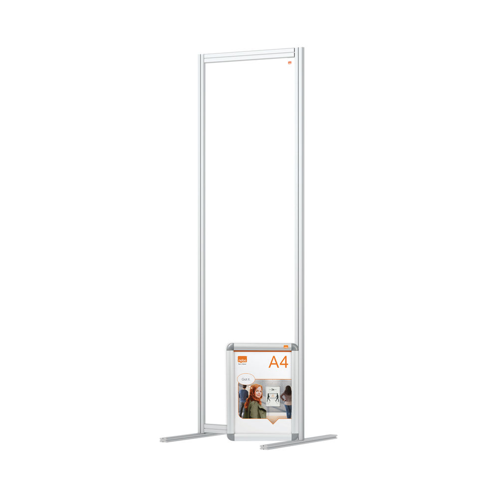 Nobo 600mm Clear Acrylic Modular Room Divider
