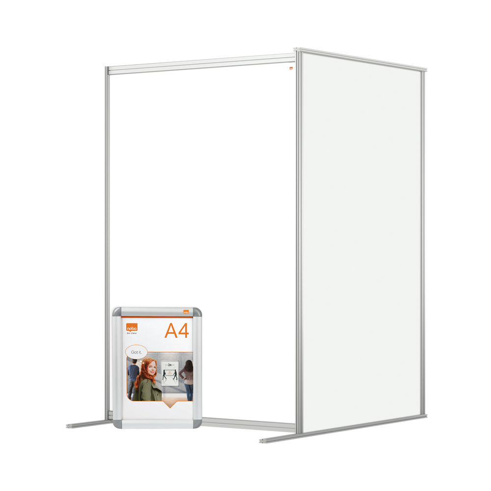 Nobo 1200mm Clear Acrylic Modular Room Divider Extension