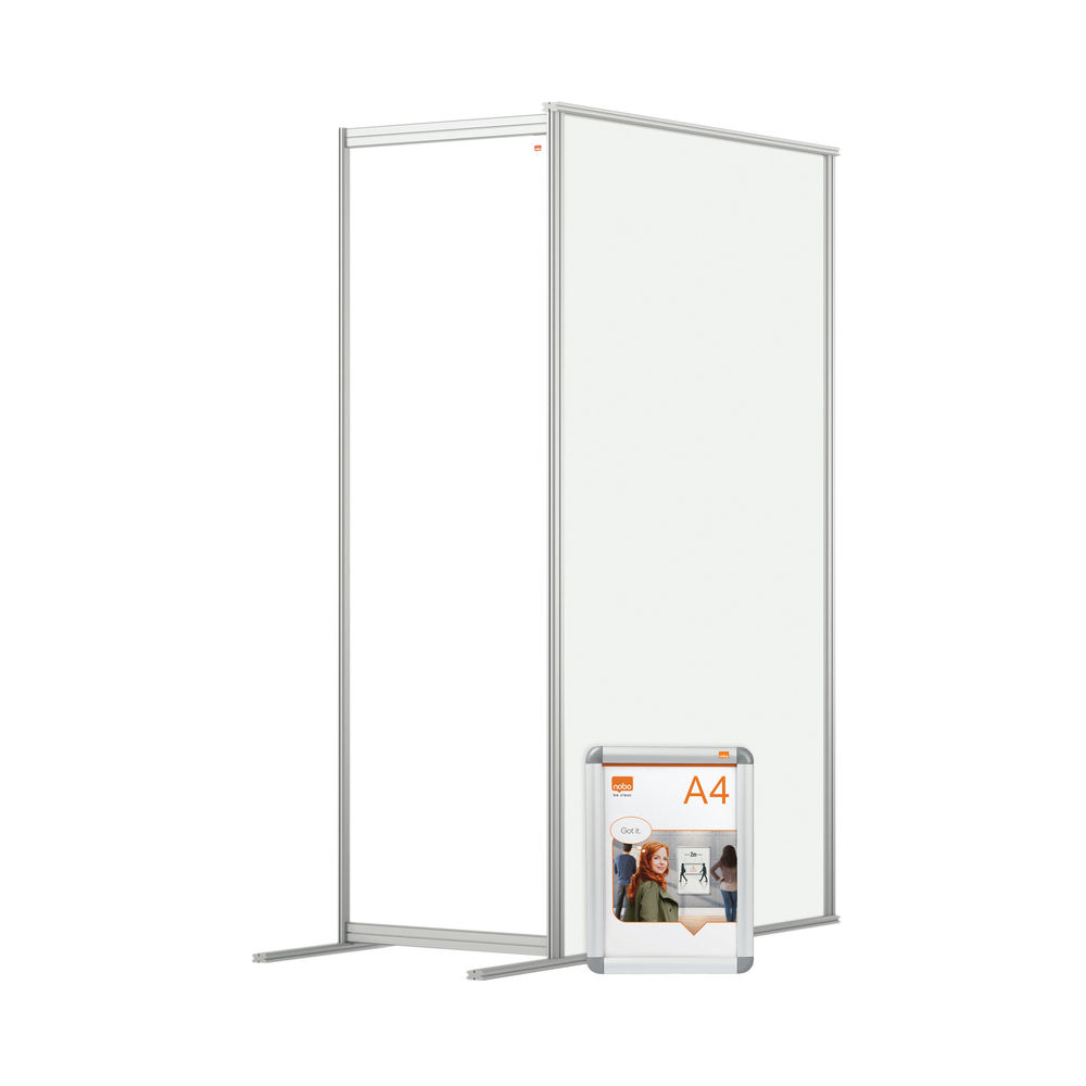 Nobo 600mm Clear Acrylic Modular Room Divider Extension