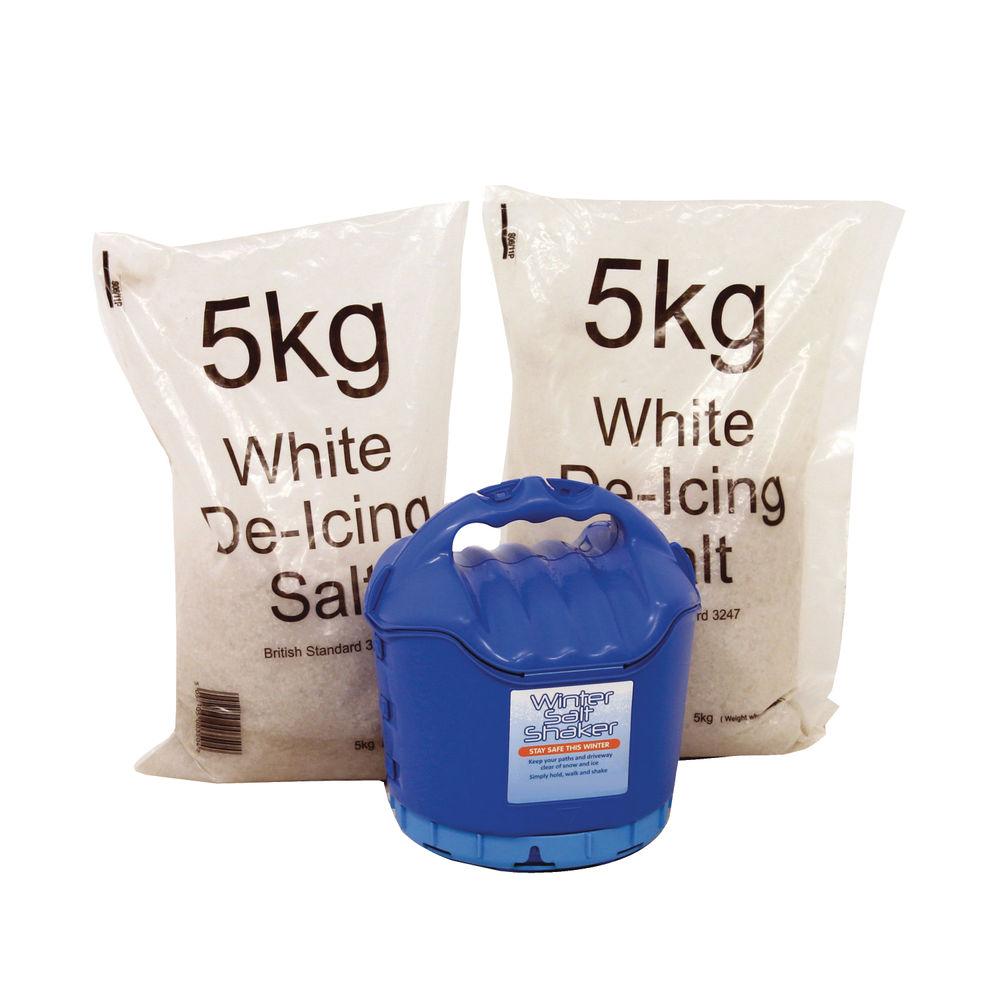 Handheld Salt Shaker and 2 x 5kg White Salt - 389106