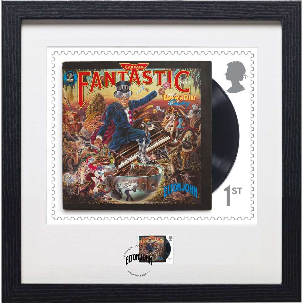 The Elton John Captain Fantastic Framed Stamp and Print