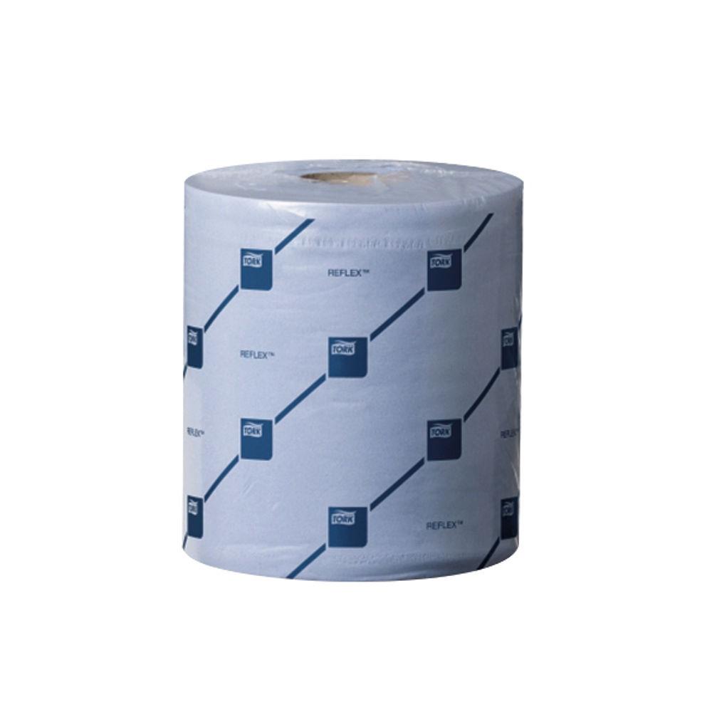 Tork Reflex M4 Blue 2-Ply Centrefeed Tissue Rolls, Pack of 6 - 473263