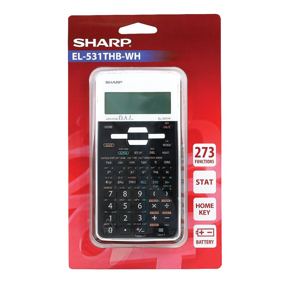 Sharp EL-531XH Black Scientific 12 Digit Calculator - EL531XBWH
