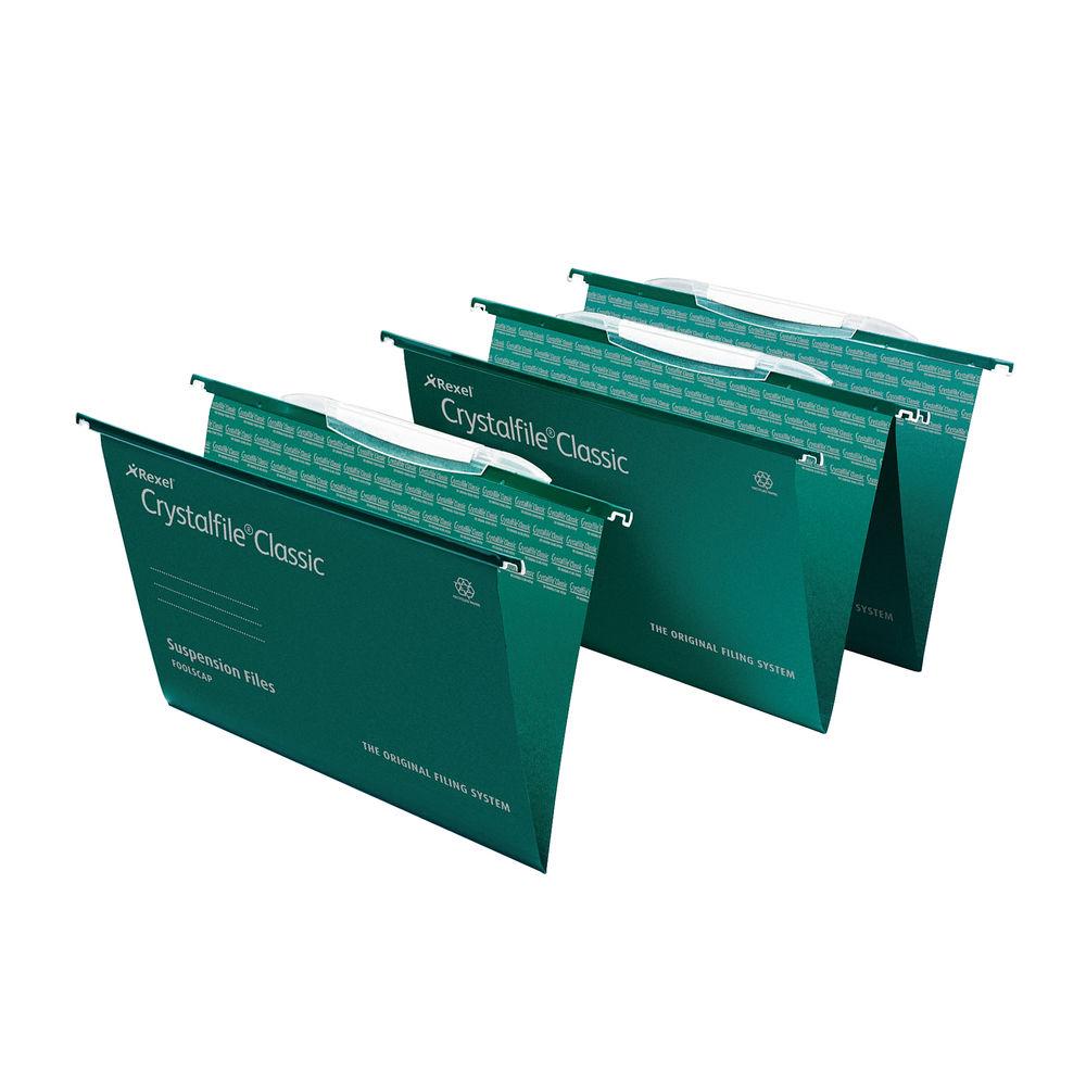 Rexel Crystalfile Interlocking Foolscap Suspension Files 15mm - Pk25 - 3000030