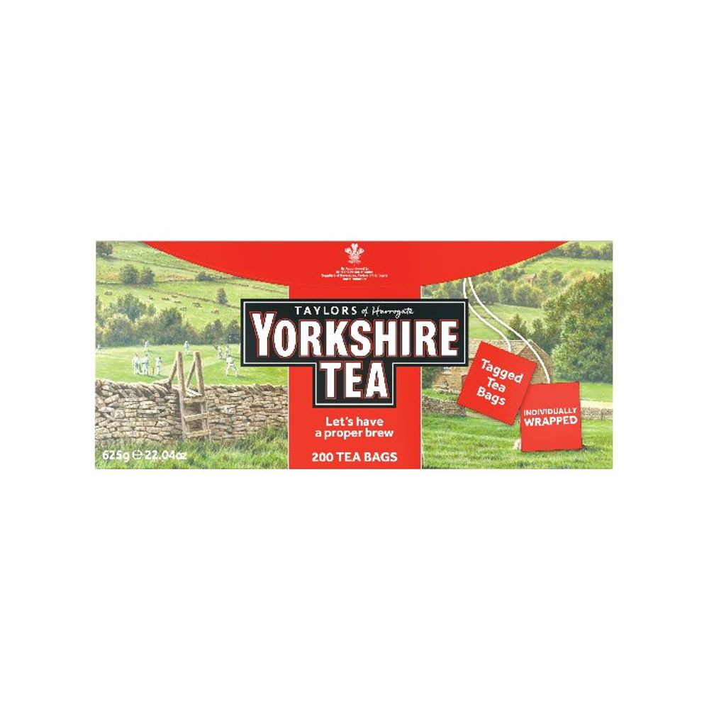 Yorkshire Tea Tagged and Enveloped Tea Bags, Pack of 200 - 1341