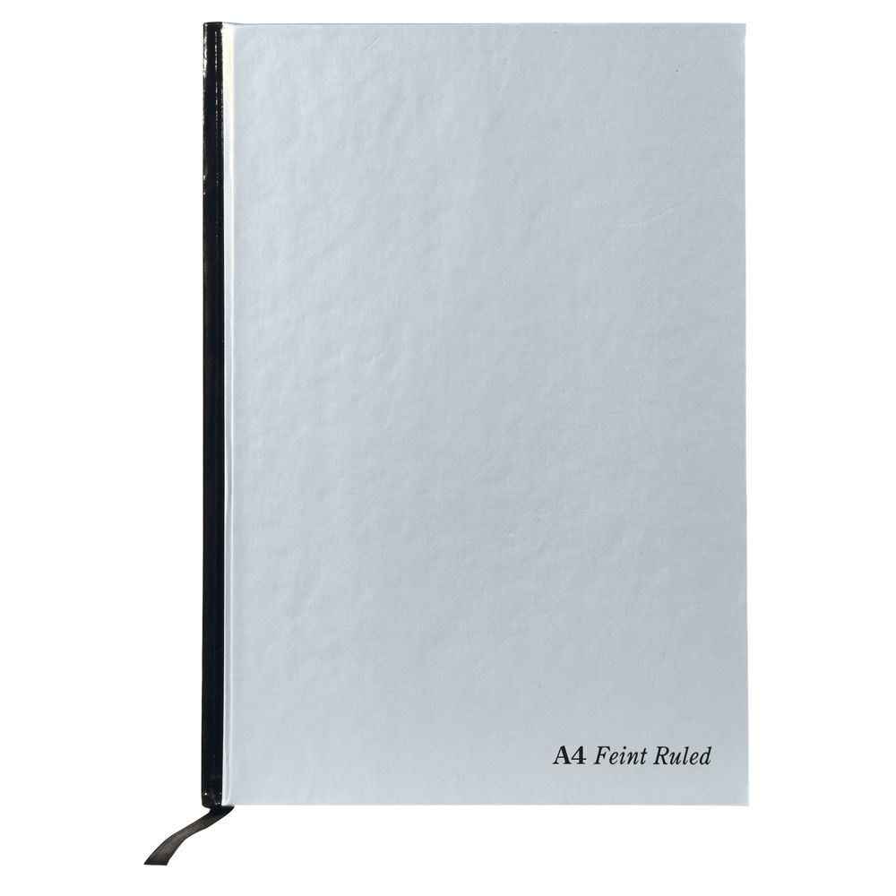Pukka Pad A4 Silver Casebound Notebook, 192 Pages, Pack of 5 - RULA4