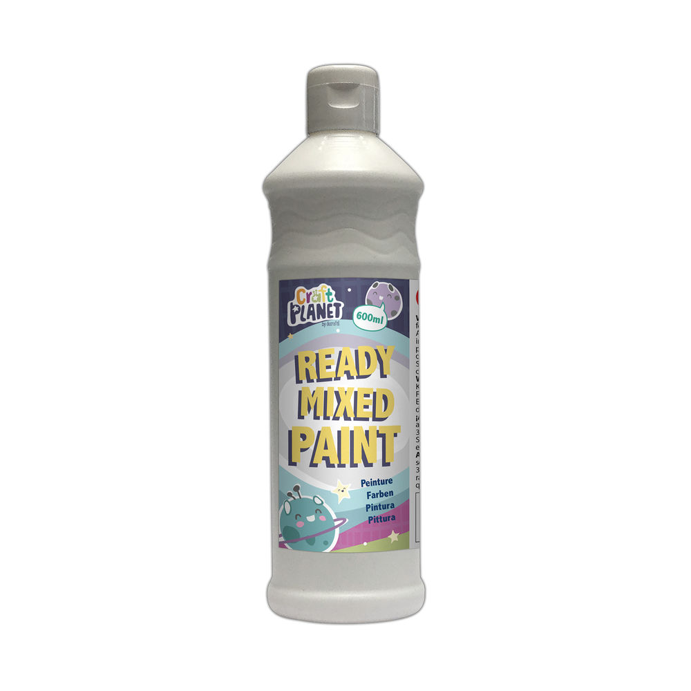 Poster Paint Ready Mixed 600ml White WD150117
