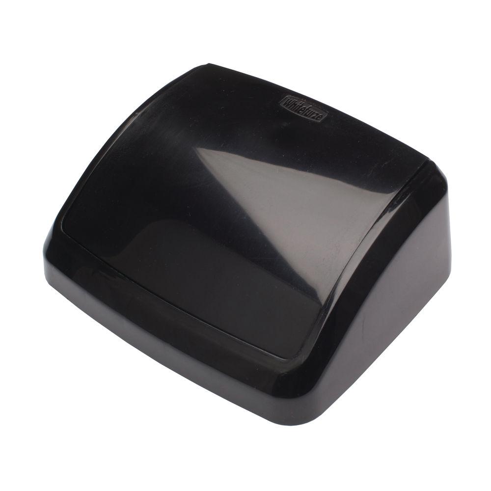 2Work 10L Black Plastic Bin Lid – 2W02386