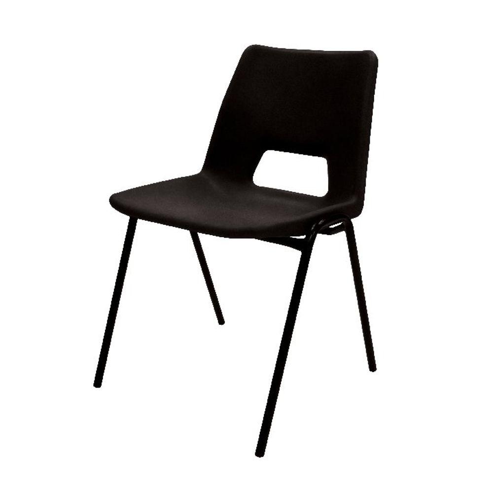 Jemini Black Polypropylene Stacking Chair