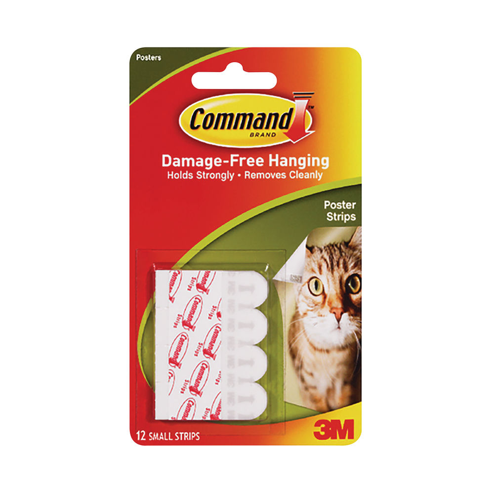 Command Small Poster Strips, Pack of 12 - 7100118790