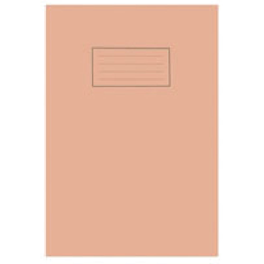 Silvine A4 Orange Exercise Book, Notebook 5mm Square Ruled, Pack of 10 - SV43514