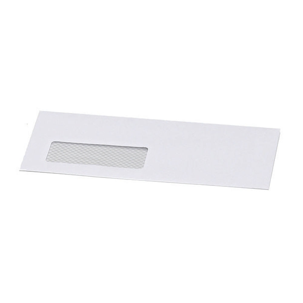 Postmaster DL Envelope 114x235mm Window Gummed 90gsm White (Pack of 500) B29153