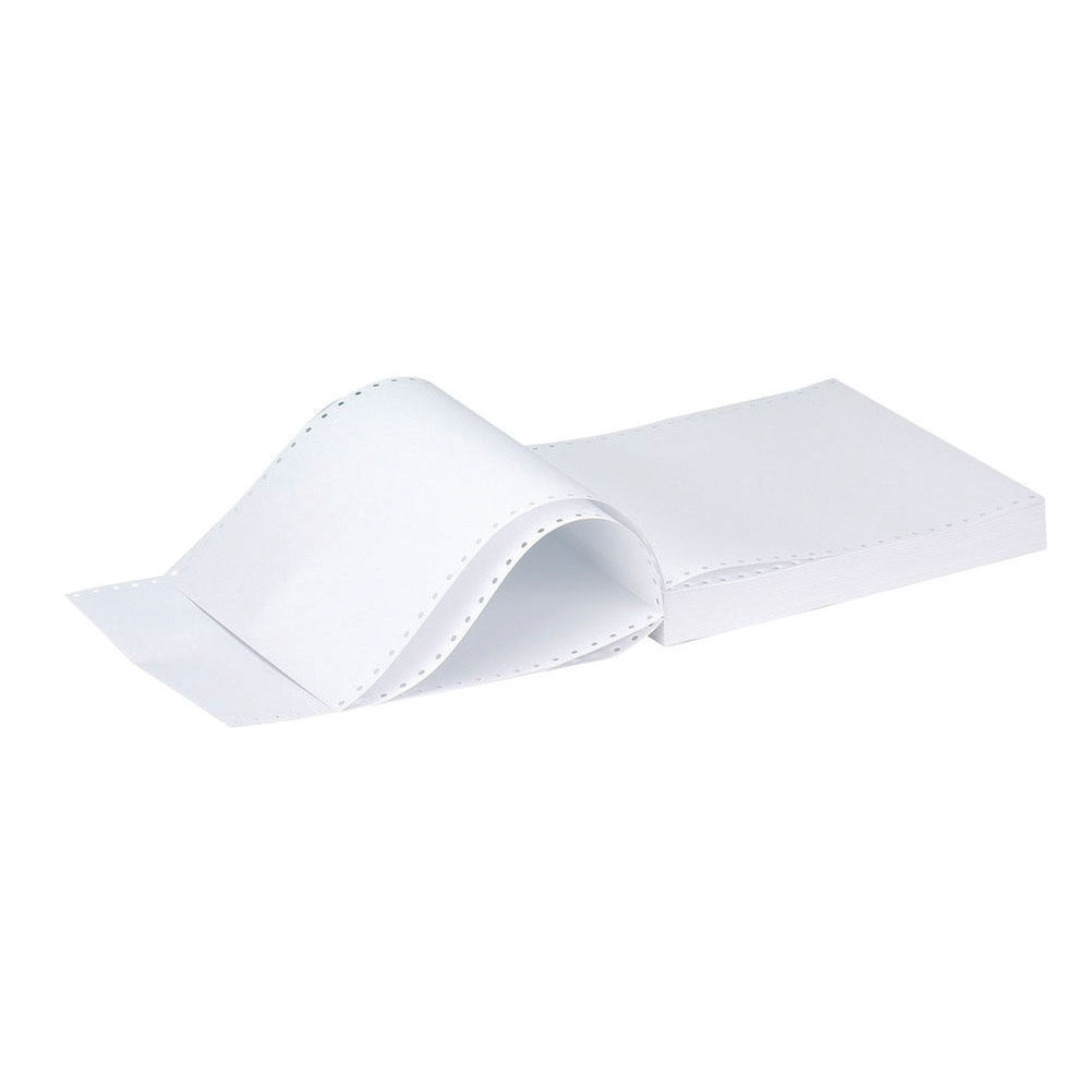 Q-Connect 11x9.5 Inches 3-Part NCR Perforated Plain Listing Paper KF02709