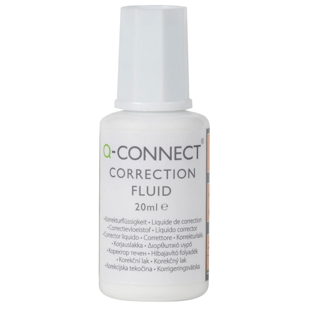 Q-Connect 20ml Correction Fluid, Pack of 10 – KF10507Q