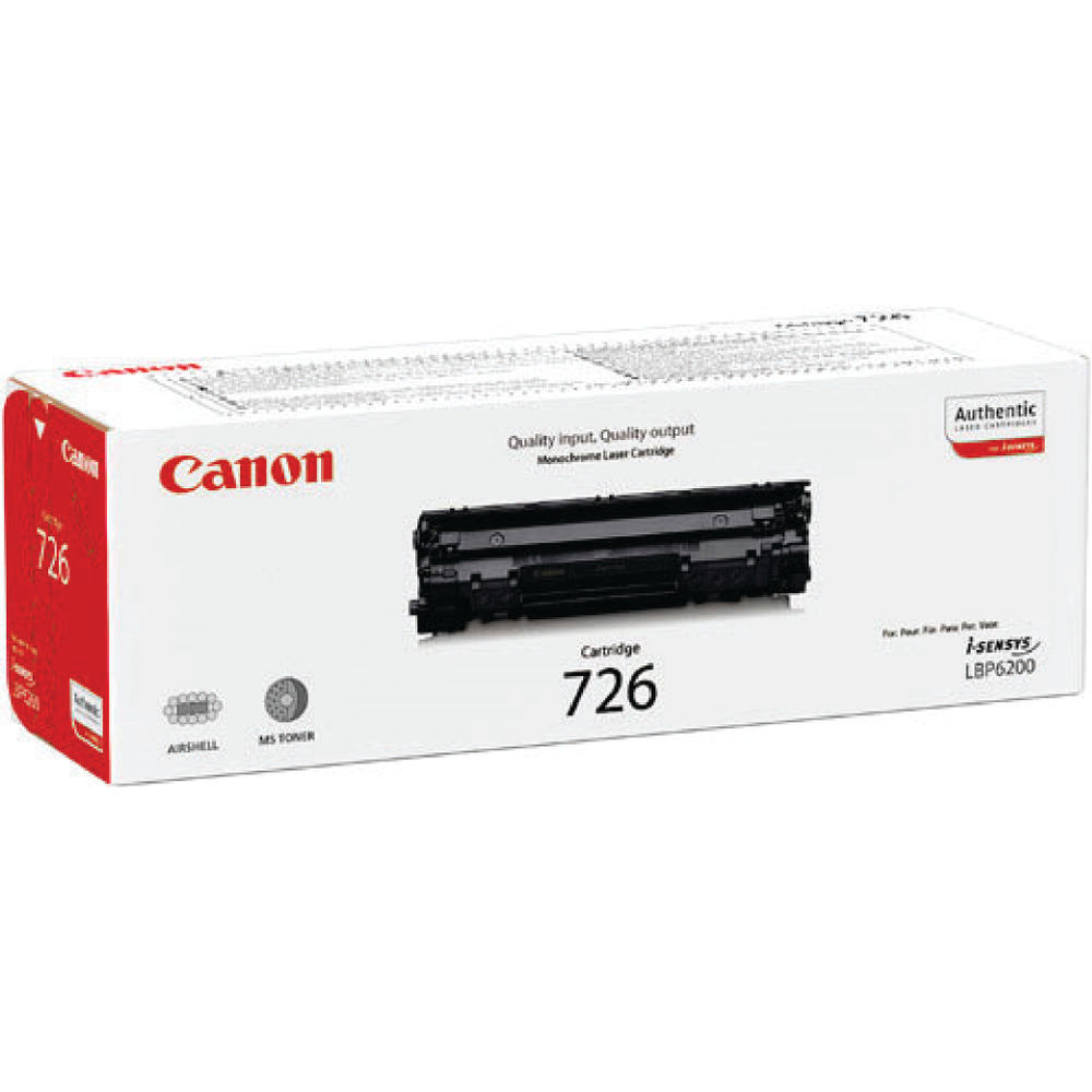 Canon 726 Black Toner Cartridge 3483B002AA