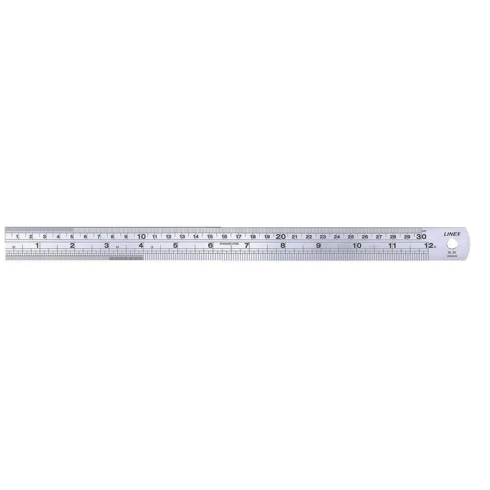Linex 30cm Steel Ruler - LXESL30