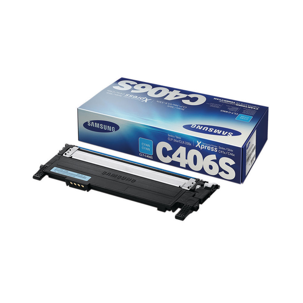 Samsung C406S Cyan Toner Cartridge - CLT-C406S/ELS