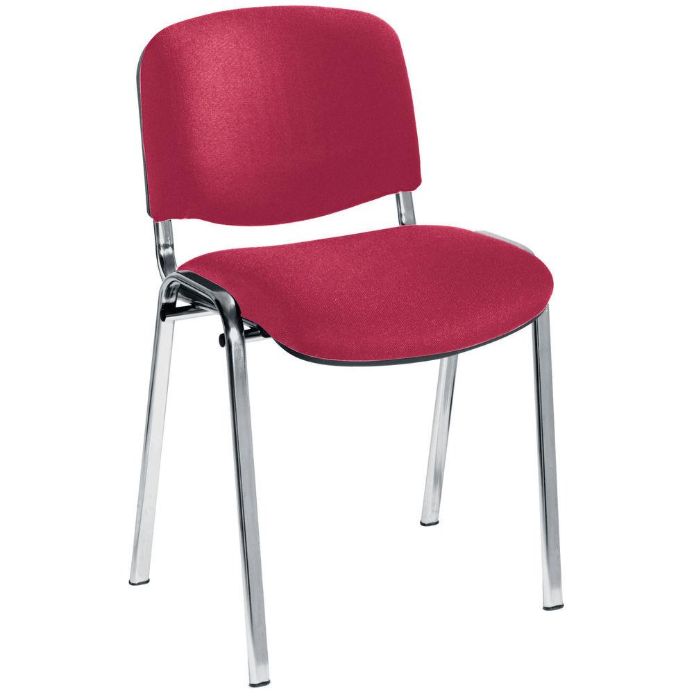 Jemini Ultra Claret/Chrome Multipurpose Stacking Chair