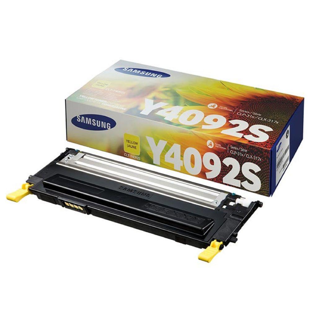 Samsung CLT-Y4092S Yellow Toner Cartridge - SU482A