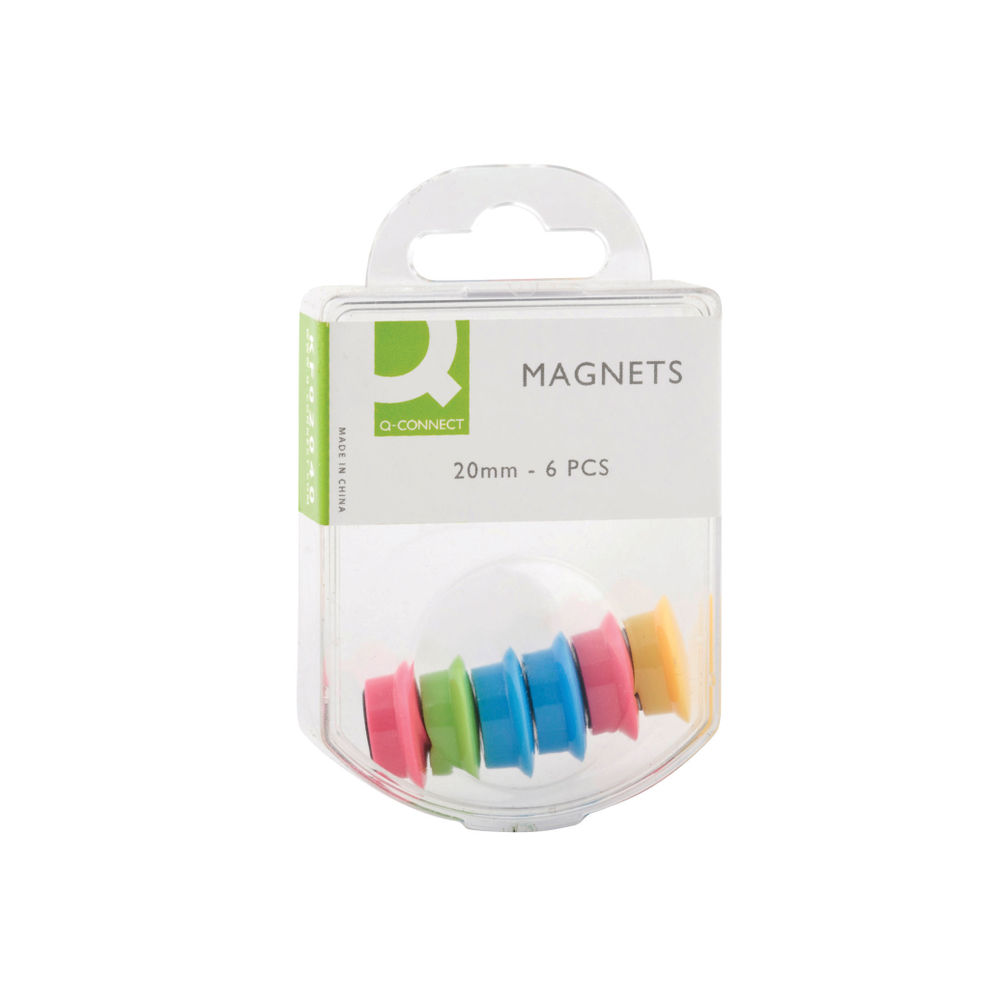 Q-Connect Assorted 24mm Magnets, Pack of 60 - KF02040Q