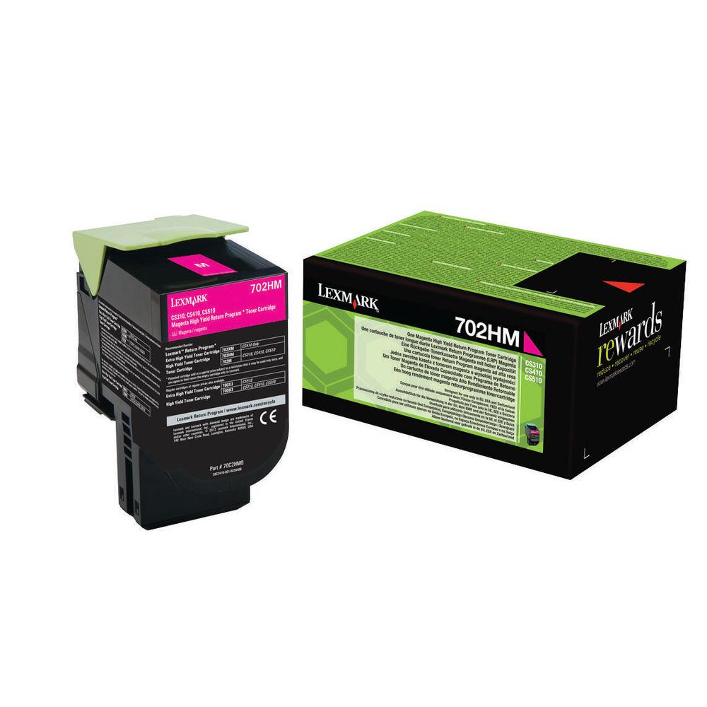 Lexmark 702HM Magenta High Yield Toner Cartridge 70C2HM0