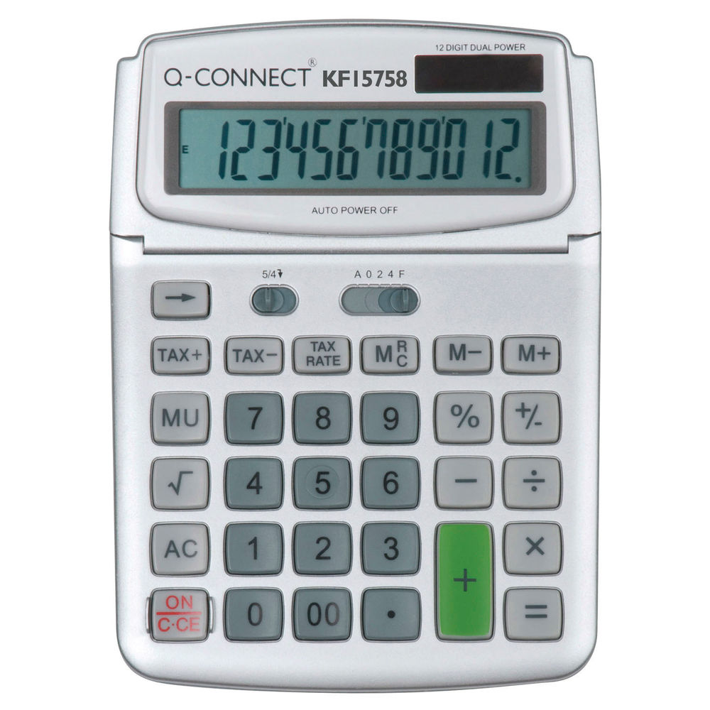 Q-Connect 12 Digit Large Table Top Calculator - KF15758