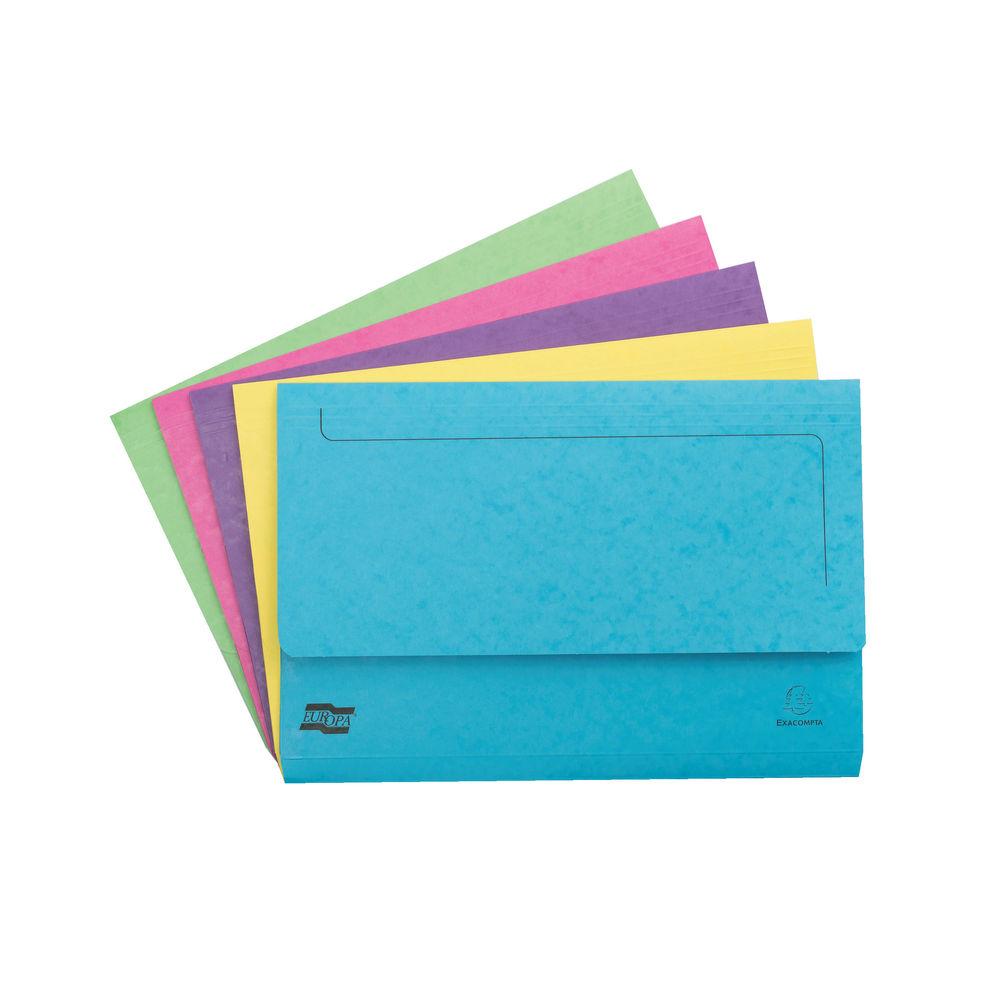 Europa Foolscap Pocket Wallet, Assortment C - Pack of 25 - 3156Z