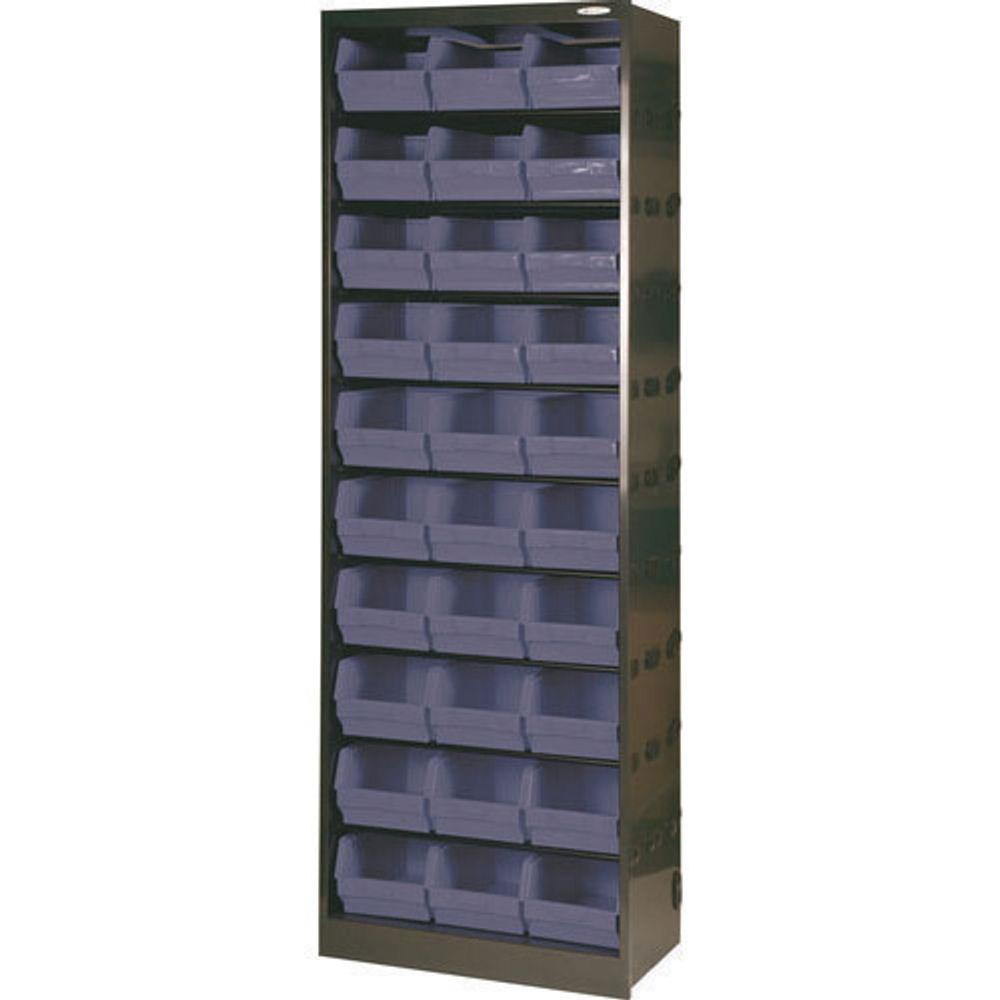 30 Bin Dark Grey Metal Bin Cupboard - 371834