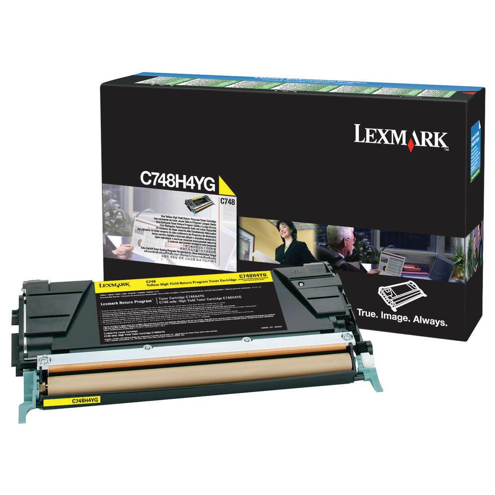 Lexmark C748 Yellow High Yield Return Program Toner Cartridge C748H3YG