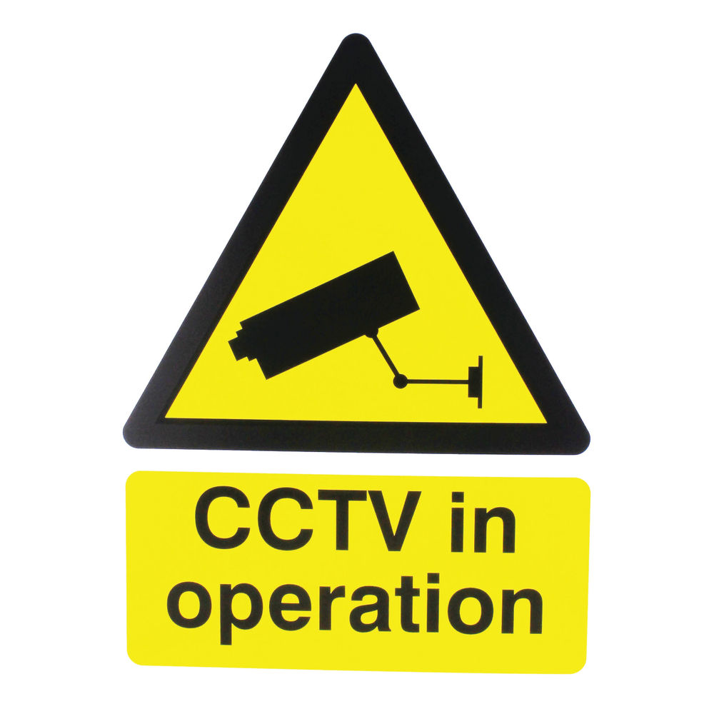 Warning Sign 400x300mm CCTV In Operation PVC CTV3B/R