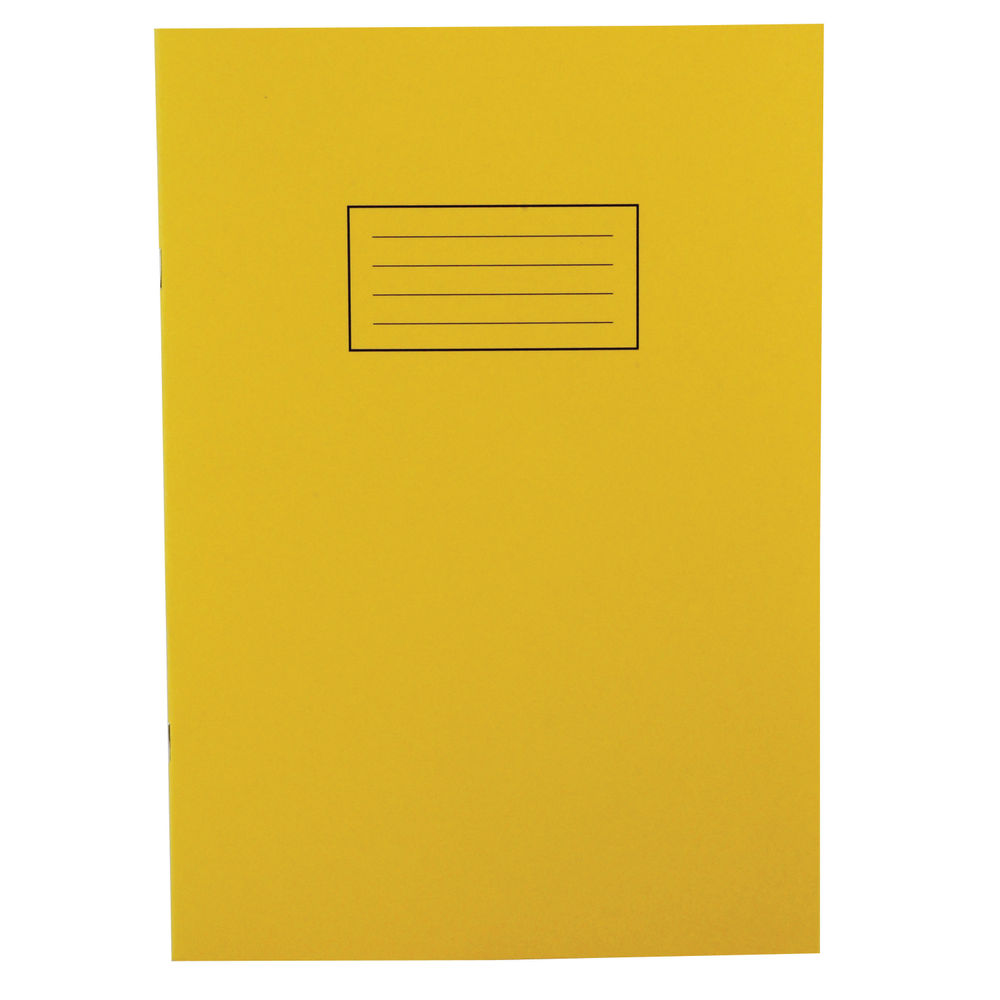 Silvine A4 Yellow Exercise Book, Notebooks - Pack of 10 - SV43510