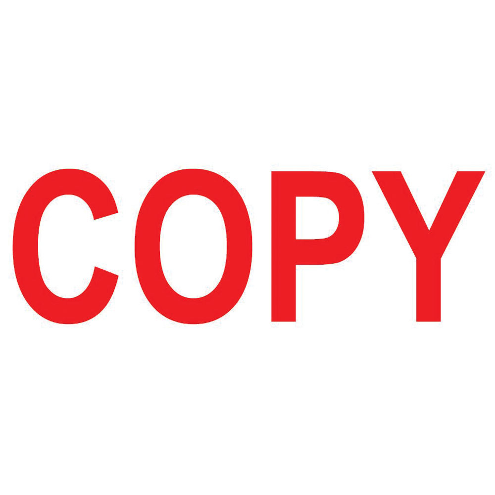 COLOP Green Line Red COPY Word Stamp - EM42396