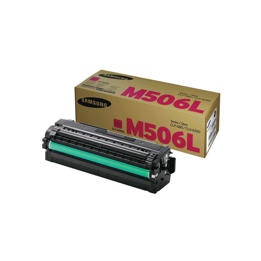 Samsung CLT-M506L High Capacity Magenta Toner Cartridge - SU305A