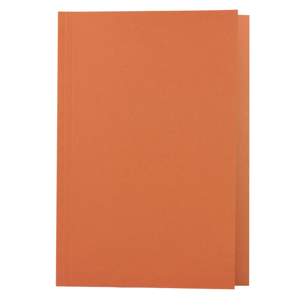 Guildhall Foolscap Square Cut Orange Folders 270gsm - Pack of 100 - JT43206
