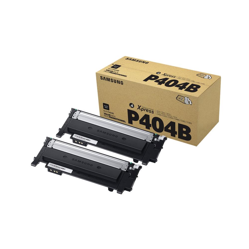 Samsung CLT-P404B Black Toner Twin Pack - SU364A