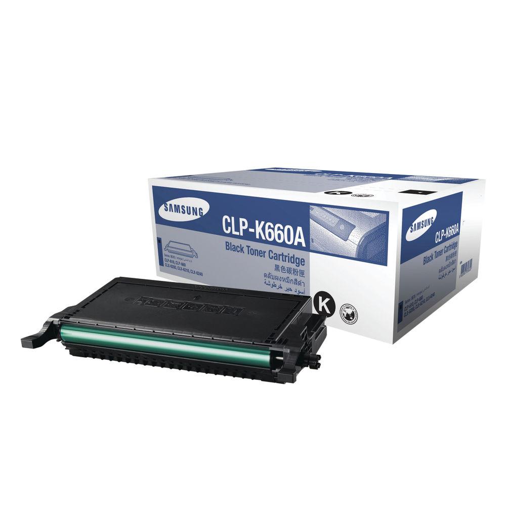 Samsung CLP-K660A Black Toner Cartridge ST899A