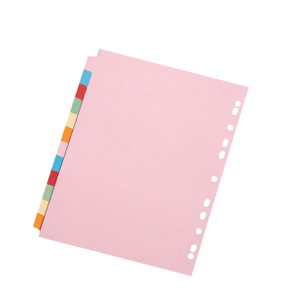 Q-Connect A4 12-Part Subject Dividers, Pack of 20 - KF01515Q