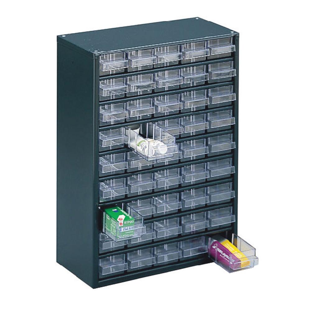 Dark Grey 45 Drawer System Storage Cabinet - 324193